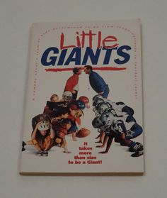 Little Giants (Paperback) 1994 Warner Brothers Book Movie
