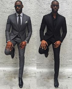 Two colors a well dressed man can never go wrong with.. Which one would you wear ? #Gentleman #MusikaFrere