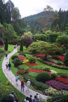 Been to:  Bouchart Gardens in Victoria, British Columbia.  Beautiful place to visit and take great photos.  Everything is so colorful.