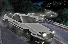 The 86 from Initial D drifting through a corner