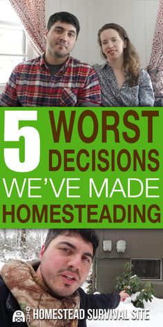 Learn from the mistakes of others. These homesteaders share the biggest mistakes they've made while homesteading. #homestead #homesteading #homesteadmistakes #offgridliving