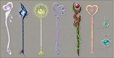 Explore the Staff and Wands collection - the favourite images chosen by KariaSilles on DeviantArt. Fantasy Jewelry, Fantasy Art, Anime Weapons, Weapon Concept Art, Anime Outfits, Art Tips, Cool Items, Game Art, Wands
