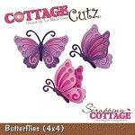 Cottage Cutz-4x4 Dies-Butterflies
