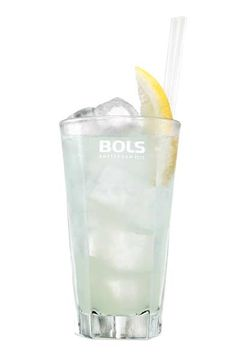 Cocktail Original Collins: 2 oz Bols Genever, 1 oz fresh Lemon juice, 0,5 oz Sugar syrup, soda... Shake first 3 ingredients with ice and finestrain into an ice-filled glass and top up with soda.