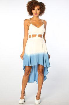 The Dip Dye Cutout Dress in Blue by Reverse