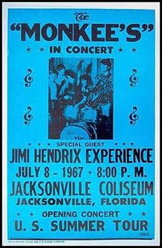 .How amazing would that be.... Monkees star billing, and special guest Jimi Hendrix... phew!
