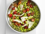 Tomato-Basil Lima Beans Recipe : Food Network Kitchens, #Beans, #Food