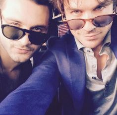 Sexy Michael Malarkey and Ian Somerhalder (just lissing Joseph Morgan for the perfect TVD trio of badassness)