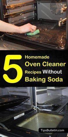 Create a homemade oven cleaner without baking soda recipe using other simple ingredients, like warm water, white vinegar, and lemon juice. Use these cleaning recipes to remove grime and grease build-up from your oven racks and surfaces. Baking Soda Drain Cleaner, Baking Soda Vinegar, Baking Soda Shampoo, Dry Shampoo, Clarifying Shampoo, Cider Vinegar, Honey Shampoo, Natural Shampoo, Natural Oven Cleaner