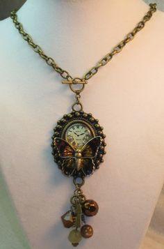 Steampunk Butterfly Necklace  | TimelessDesigns - Jewelry on ArtFire