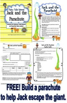 Free download! Fairy tale science activity. Students will build a parachute for Jack. Great for STEM! from More Than a Worksheet