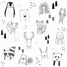 The wild kids apparel doodle art, doodle kids, bullet journal doodles ideas, bullet Doodle Art, Doodle Drawings, Easy Drawings, Doodle Kids, Funny Drawings, Simple Animal Drawings, Tier Doodles, Easy Doodles, Animal Doodles
