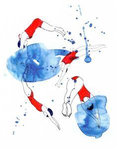 Swim « Illustration Friday