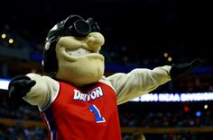 Rudy Flyer The Dayton Flyers mascot, Rudy Flyer, performs during the second round of the 2014 NCAA Men's Basketball Tournament against the O...