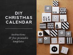 HEY LOOK: FREE PRINTABLE: DIY CHRISTMAS CALENDAR