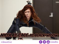 Nicolas Cage as Black Widow - Almost Cast #Avengers