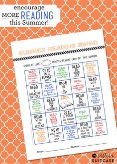 Fun Summer Reading Bingo Card + Printable to keep your kids reading this summer! Reading Bingo, Kids Reading, Teaching Reading, Reading Tips, Teaching Ideas, Reading Homework, Close Reading, Guided Reading, Summer Slide