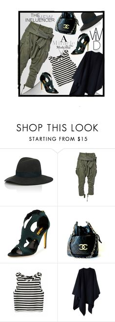 """the new influence"" by ina-kis ❤ liked on Polyvore featuring Janessa Leone, Faith Connexion, Rupert Sanderson, Chanel and Acne Studios"