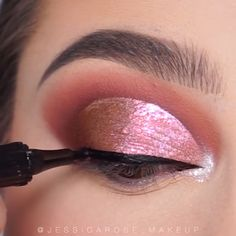 Make up Makeup by ummehani Beauty Makeup Tips, Glam Makeup, Skin Makeup, Eyeshadow Makeup, Eyeliner, Rose Gold Eyeshadow, Makeup Eye Looks, Eye Makeup Steps, Beautiful Eye Makeup