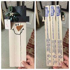 Christmas Wood Crafts, Diy Christmas Ornaments, Christmas Projects, Holiday Crafts, Christmas Crafts, Snowman Crafts, Homemade Christmas, Christmas Ideas, Christmas Decorations