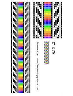 Rainbow stip - seed bracelet