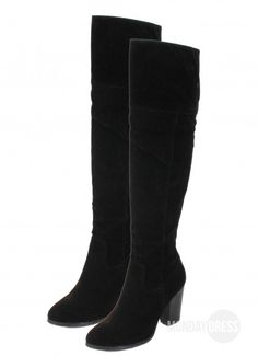 ffd16f77b2bf Dance All Night Over-The-Knee Boots in Black. Monday Dress Boutique