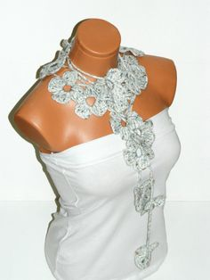 Hand made crochet ivorymulti color Flower by WomanStyleStore, $25.00