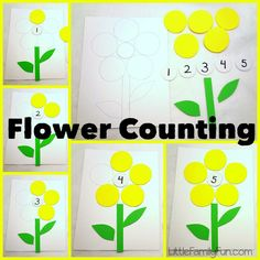 Practice numbers & counting with a fun and easy flower game! Great activity for spring.