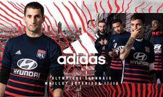 Camisas do Lyon 2017-2018 Adidas