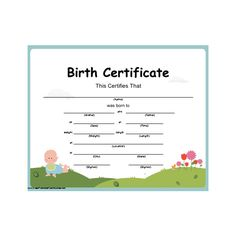 Baby Birth Certificate Template Amusing Baby Ink Baby Birth Certificate Keepsake  Decor Ideas  Pinterest .
