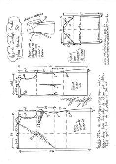 Sobretudo com capuz simples – DIY – molde, corte e costura – Marlene Mukai Coat Pattern Sewing, Coat Patterns, Pattern Drafting, Jacket Pattern, Sewing Patterns Free, Dress Patterns, Kids Clothes Patterns, Clothing Patterns, Diy Clothing