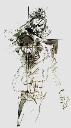 Metal Gear Solid, Big Boss by Yoji Shinkawa
