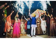 Here comes the bride! Cold pyros are the biggest trend for bridal entries at weddings this season, and few brides have pulled it off with… Indian Wedding Bride, Indian Wedding Planning, Wedding Mandap, Desi Wedding, Indian Bridal, Indian Weddings, Royal Weddings, Bride Entry, Wedding Entrance