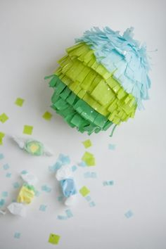 Cool tutorial on how to make your own mini pinatas (perfect for Cinco de Mayo coming up next month)