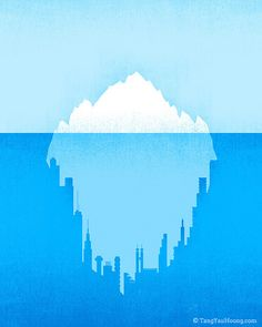 Hidden City by Tang Yau Hoong — the first original thought I've seen applied to this old and tired metaphor.