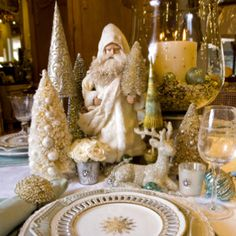 Christmas table at Annelle Primos