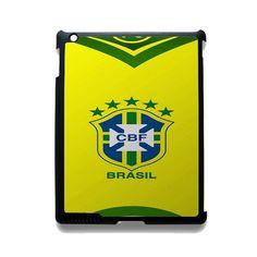 Brazil Football Shirt Bedge TATUM-2081 Apple Phonecase Cover For Ipad 2/3/4, Ipad Mini 2/3/4, Ipad Air, Ipad Air 2