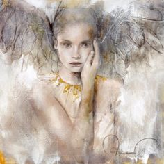 "spiritual art | This angel picture is called ""In truth there is love"""