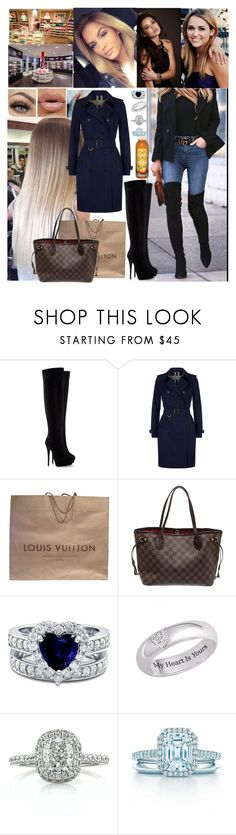 """""""Meeting for Real Women💖Carola💖"""" by carolalink ❤ liked on Polyvore featuring Giuseppe Zanotti, Burberry, Louis Vuitton, BERRICLE and Mark Broumand"""