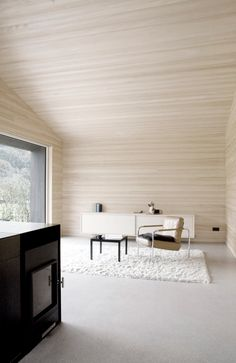 Austrian architect Sven Matt has designed the House for Gudrun.    Completed in 2010, this 969 square foot contemporary home is located in Mellau, Austria.