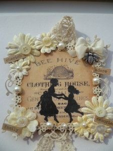 Mother's Day plaque using Graphics Fairy images