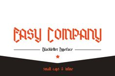 Check out Easy Company Small Caps by thomas_ramey on Creative Market