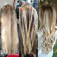 Hair painting blonde Balayage