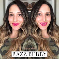 Cool matte vivid neon raspberry pink lip color