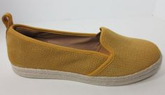 Clarks Womens Azella Major Yellow Suede Leather Espadrille Flats Shoes Sz 8.5 #Clarks #Espadrilles #Casual