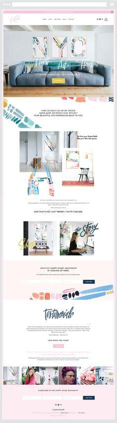 A collection of my favorite custom Squarespace Website Designs Blog Design, Web Design, Custom Website Design, Portfolio Website, Ecommerce, Creative, Color, Colour, Design Web