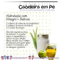 Hidratação com Vinagre de Maçã e Babosa Hair Care, Fruit, Food, Essen, Hair Care Tips, Meals, Hair Makeup, Yemek, Eten