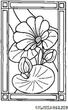 Stained Glass Coloring Pages - ColoringPagesABC.com | Faux stained ...