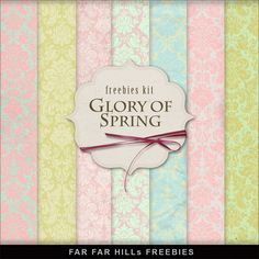 Freebies Background Kit - Glory of Spring
