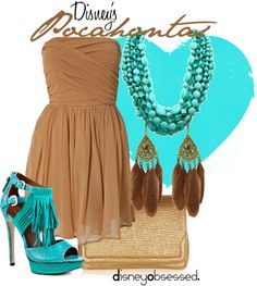"""Pocahontas"" by disneyobsessed ❤ liked on Polyvore"